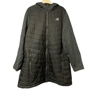 New Balance Jacket Black Long Full Zip Hood 2X